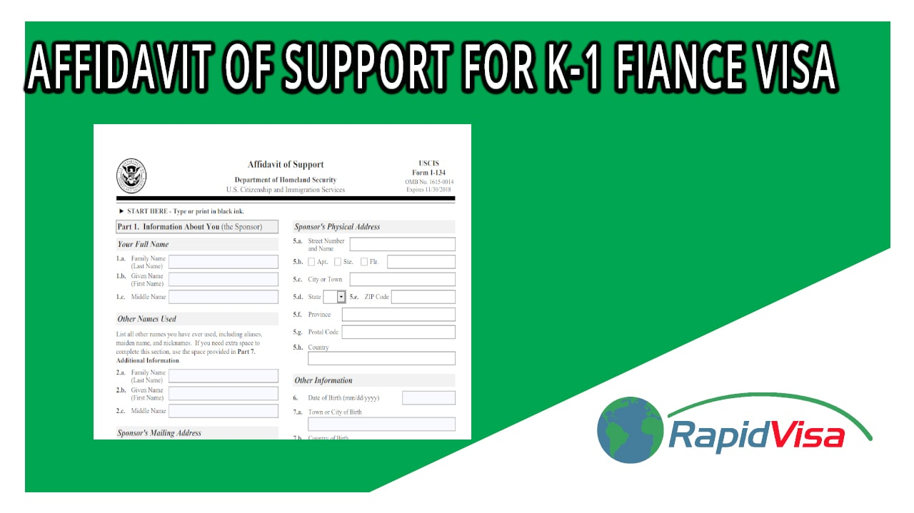 Affidavit of Support for K-1 Fiancé Visa | Rapidvisa