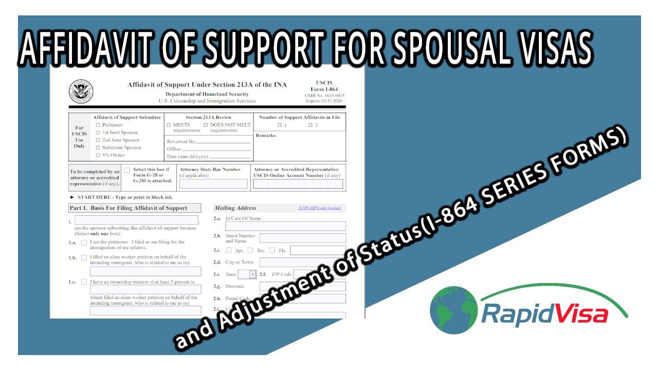 Affidavit Of Support For Spousal Visas And Adjustment Of Status I