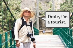 stereotypical tourist