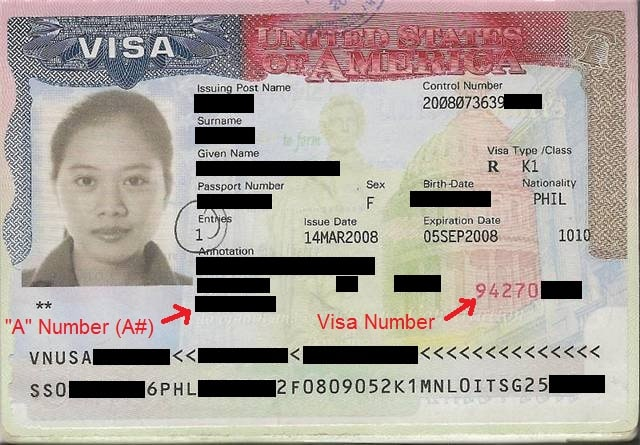how to find visa number on passport