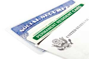 Permanent resident card & social security card