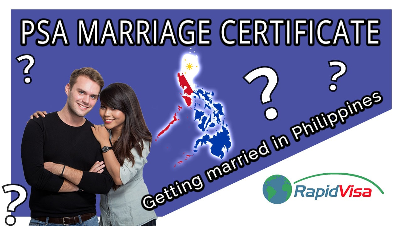 Getting Married in the Philippines - PSA Marriage Certificate