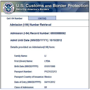 i 94 form not issued at port of entry  Arrival-Departure Record (I-10 Number) | RapidVisa