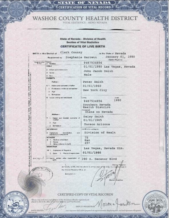 birth certificate document arizona rapidvisa