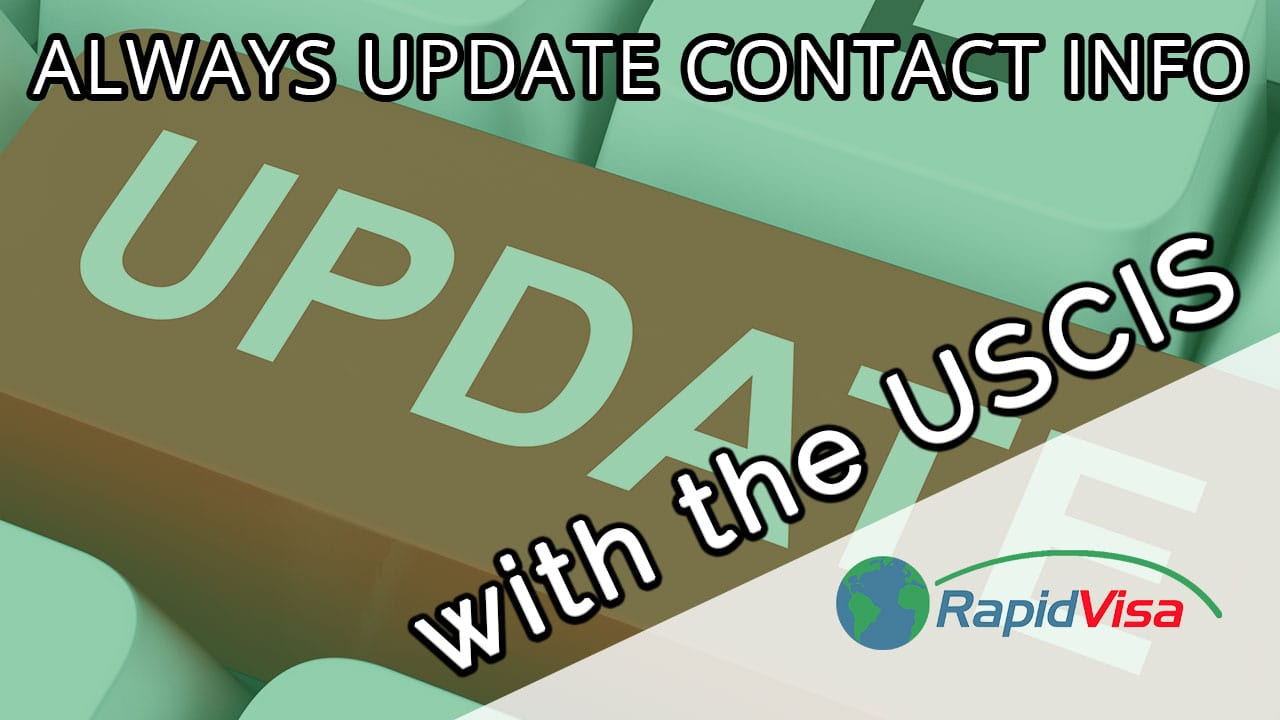 Why to Always Update the USCIS With Contact Information
