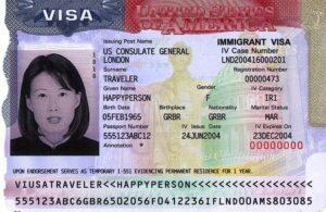 Spouse Visa - Green Card Example